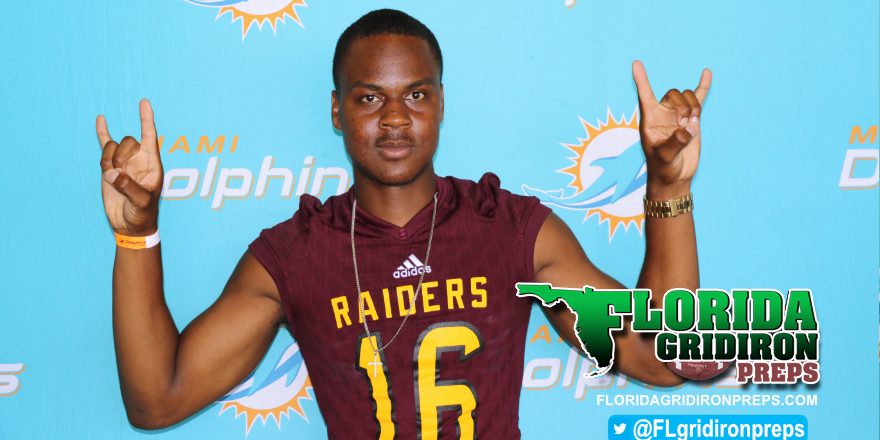 Glades Central DB Gerald Jackson III at Dolphins HS Media Day