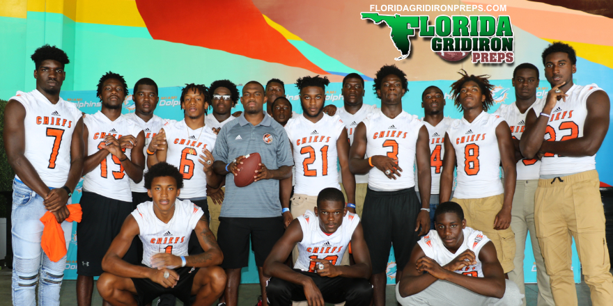 Defending State Champs Carol City at 2017 Dolphins HS Media Day