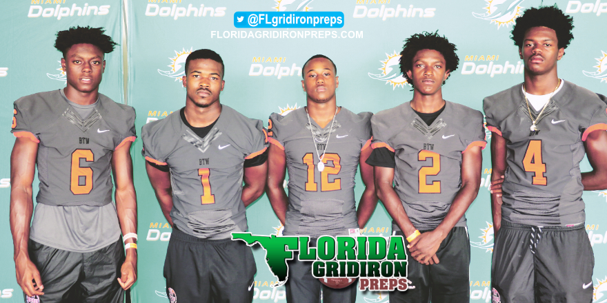 Perennial power Miami Booker T. Washington at 2017 Dolphins HS Media Day